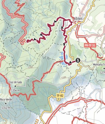 Karte / 7. Dezember 2015 El Cielo Lorbeerwanderung bei Erjos