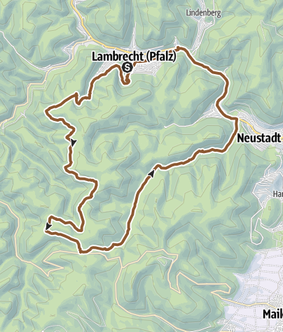 Karte / Lambrecht über Hellerhütte und Totenkopf