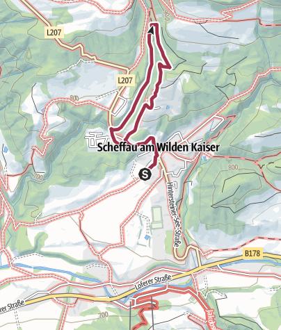 Karte / Scheffau - Rehbachrunde