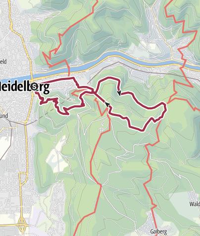 Cartina / Gaisbergturm, Königstuhl und Schloss