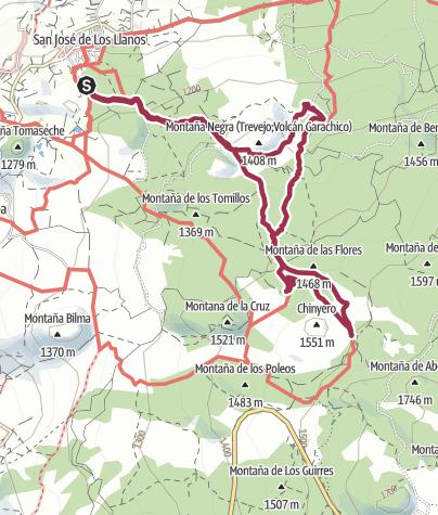 Karte / 16. Dezember 2015 Teneriffa Montana Negra und Chinero ab Los Llanos