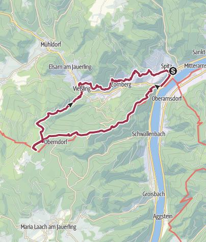 Karte / Von Spitz auf den Jauerling