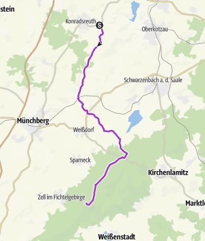Karte / Waldsteinlauf 22 km, Veranstaltung 1. Mai