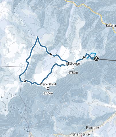 Karte / Rax-Expedition (nur mit Bergführer empfohlen)
