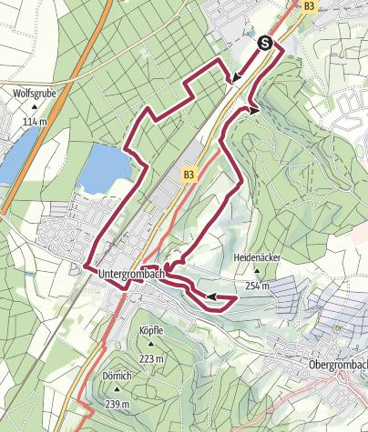 Karte / Lebensader Oberrhein: Wanderung Büchenauer Hardt und Michaelsberg bei Bruchsal