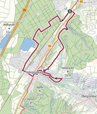 Carte / Lebensader Oberrhein: Wanderung Büchenauer Hardt und Michaelsberg bei Bruchsal