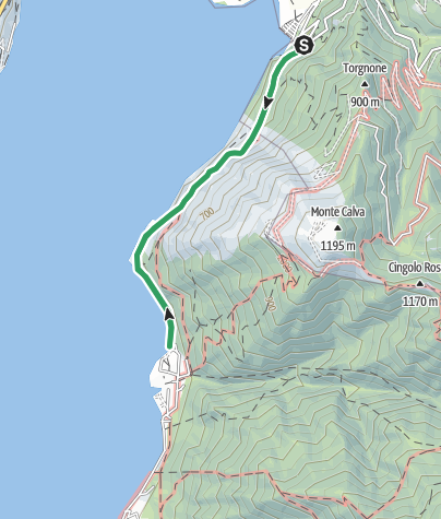 Map / Via Ferrata Sasse: der Küste des Idrosees entlang – Bondone (Trentino)