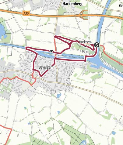 Karte / Bevergerner Pättken - Hexenhöhle