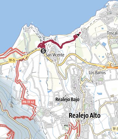 Karte / Mirador San Pedro zum Casa Hamilton