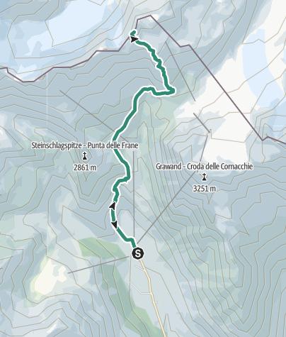 Karte / Wanderbare 3000er: Auf's Hintereis (3.270m) im Schnalstal