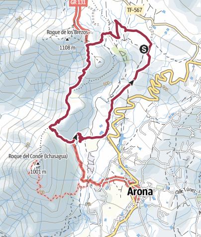 Karte / El Refugio - Roque Imoque - Barranco del Rey