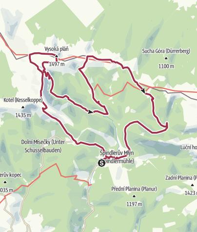 Karte / Elbquelle-Elbgrund-Grenzkamm