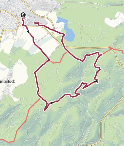 Karte / Wanderung mit 4 Stempelstationen bei Clausthal-Zellerfeld