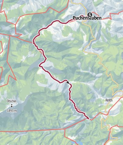 Carte / Tourenplanung am 9. Januar 2016 Vordere und  Hintere Tormäuer