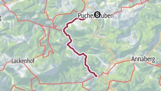 Karte / Tourenplanung am 9. Januar 2016 Vordere und  Hintere Tormäuer