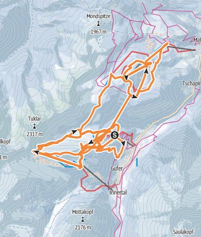 Map / Ski day with Bill & Pineman 07JAN16