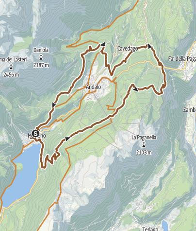 """Map / 789 """"Tour dei 4 Paesi"""""""