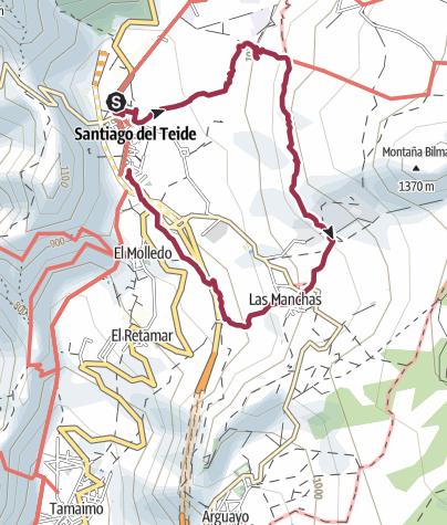 Karte / 11. Januar 2016 Mandelblütenwanderung ab Santiago del Teide