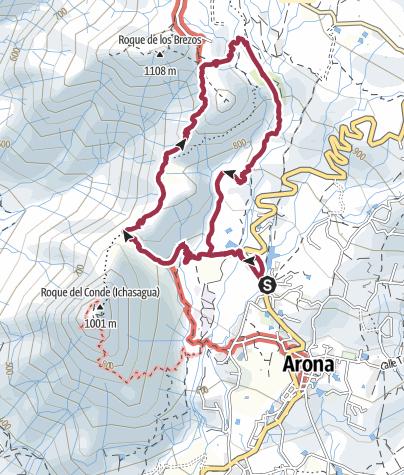 Karte / 13. Januar 2016 Rund um den Roque Imoque