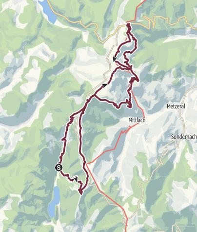 Map / 3-daagse bivaktocht in de Hoge Vogezen.