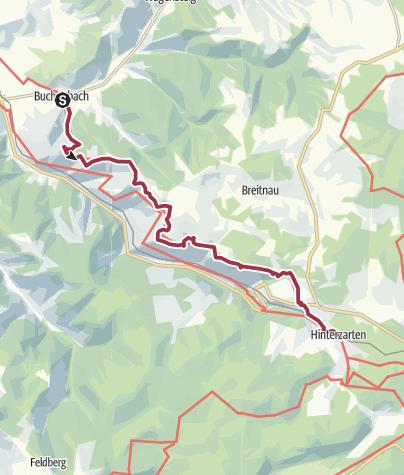 Karte / Querweg Freiburg Bodensee: Buchenbach - Hinterzarten