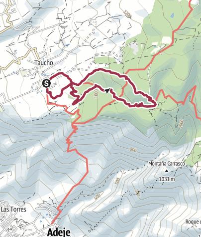 Karte / 18. Januar 2016  Taucho/La Quinta Rundwanderung