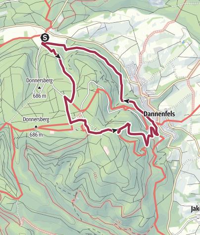 Karte / donnersberg 8 km