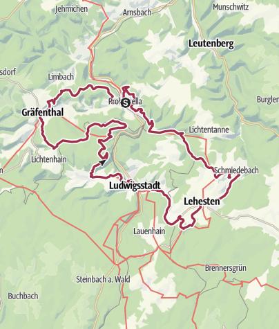 """מפה / Rundwanderweg - Schieferpfad am """"Grünen Band"""" - Probstzella - Thüringer Wald"""