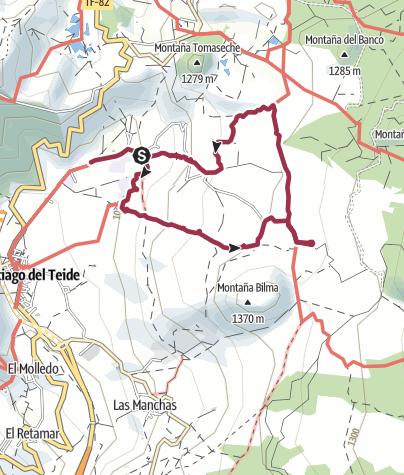 Karte / 20. Januar 2016 Mandelblütenwanderung ab Valle de Ariba