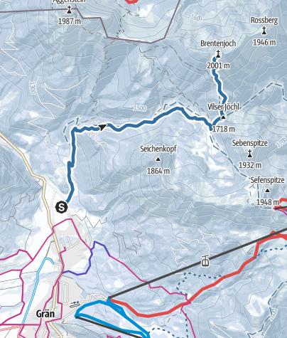 Karte / Brentenjoch