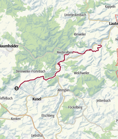 Karte / Von Thallichtenberg nach Offenbach-Hundheim