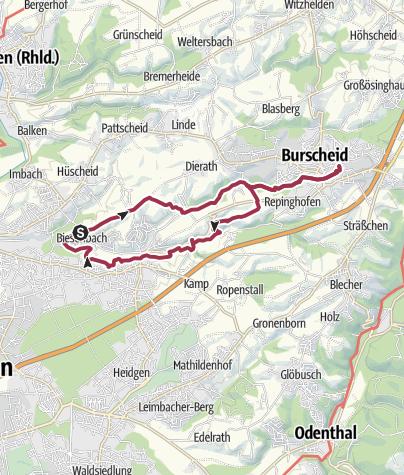 Karte / Claas Häuschen - Burscheid und zurück