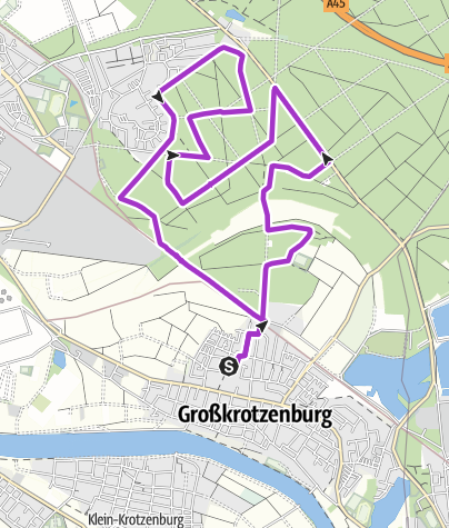 Karte / Limeslauf 21,1 km