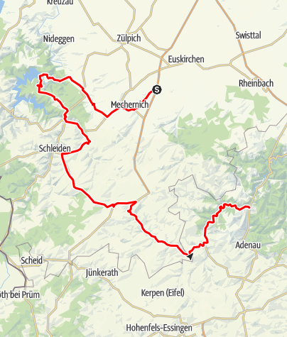 Carte / Eifel Motorradtour Rursee und Ahrquelle