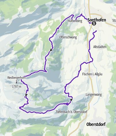 Karte / Allgäu Panorama Marathon - Marathon