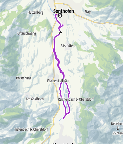 Karte / Allgäu Panorama Marathon - Halbmarathon