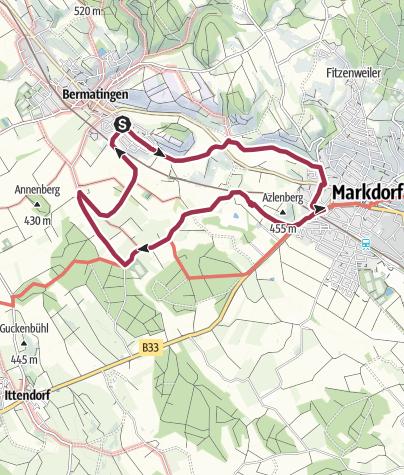 Karte / Bermatingen - Wangen-Markdorf-Riedern-Bermatingen