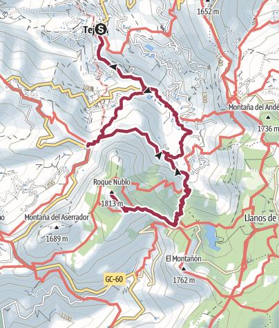 Karte / Von Tejeda zum Roque Nublo