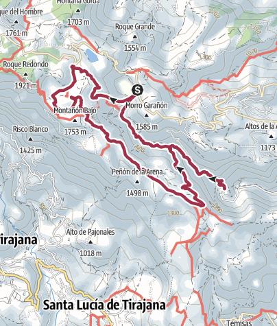 Karte / Durch die Guyadeque Schlucht