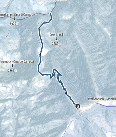 Karte / V. Hornspitze 3145m