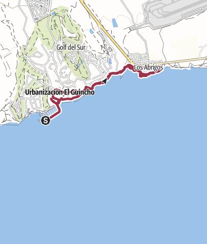 Karte / 15. Februar 2016 Küstenwanderung ab Marina de San Miguel nach Los Abrigos
