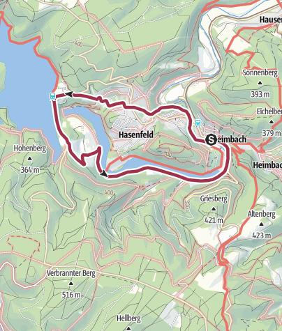 Karte / Heimbach-Schwammenauel Rundweg