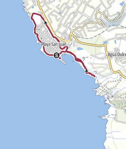 Karte / 19. Februar 2016 Regenwanderung um Playa San Juan