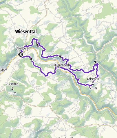 """Carte / Wiesenttal~Trail """"Neideck 1000"""""""