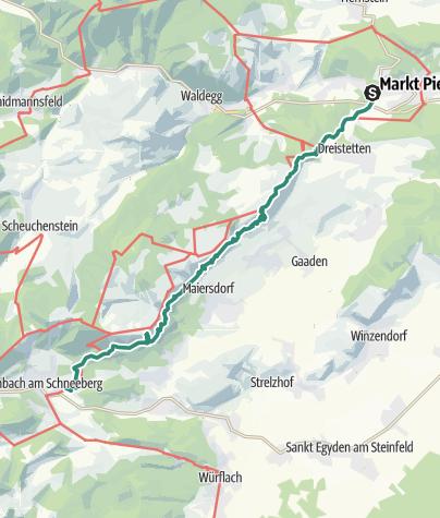 Karte / Mit Öffis: Hohe Wand - Wandfußsteig