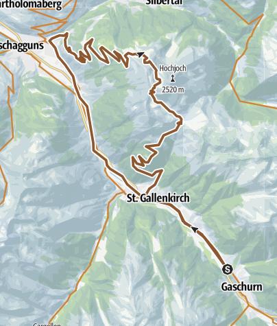 Map / AT-8 Gaschurn -> Kreuzjochsattel