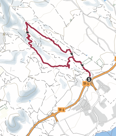 Karte / 24. Februar 2016 BARRANCOWANDERUNG AB DER HAIFISCHFLOSSE