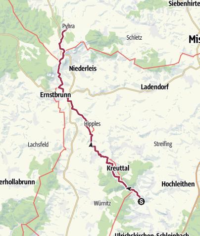 Karte / Per pedes Wien-Laa- Tag 2