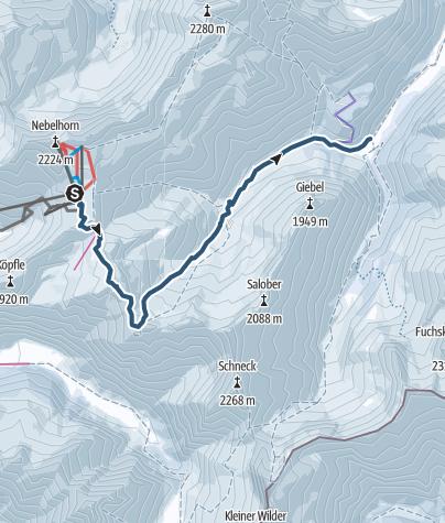 Karte / Vom Nebelhorn zum Giebelhaus