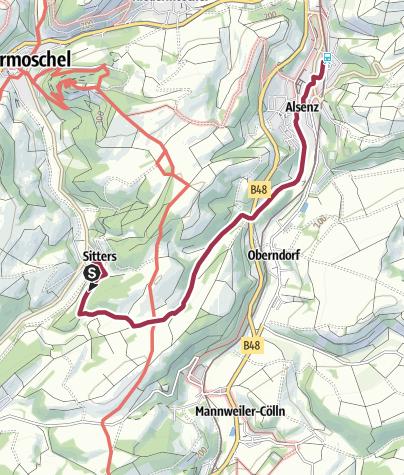 Karte / sitters-alsenz 5,5 km
